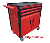 Tủ dụng cụ 3 ngăn kèm hộc đôi bên dưới có khóa N2T1RD3 (Đỏ)