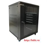 Tủ Rack/ Cabinet 15U-D800, Cao Cấp - SR15.6080.01 ( Cánh Mica)