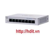 Thiết bị chuyển mạch Cisco CBS110 Unmanaged 8-port GE, Desktop, Ext PS - CBS110-8T-D-EU