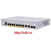 Thiết bị chuyển mạch CBS250 Smart 8-port GE, Full PoE, Ext PS, 2x1G Combo - CBS250-8FP-E-2G-EU