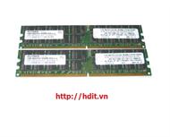 KIT 4GB (2X2GB) 400MHZ PC2-3200 CL3 ECC REGISTERED DDR2 SDRAM DIMM