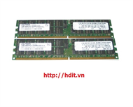 KIT IBM 4GB (2X2GB) 400MHZ PC2-3200 CL3 ECC REGISTERED DDR2 SDRAM DIMM. P/N: 73P2867