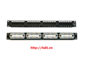 Patch Panel AMP/ COMMSCOPE, 24 Port, Cat 5E - P/N 1479154-2 / 406330-1
