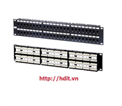 Patch Panel AMP/ COMMSCOPE, 48 Port, Cat 6 - P/N: 1375015-2 / 1933796-2